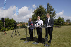 DENMARK_JOINT PRESS CONFERENCE Royalty Free Stock Photo
