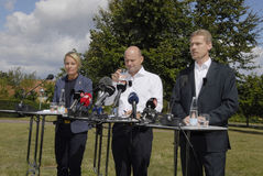 DENMARK_JOINT PRESS CONFERENCE Royalty Free Stock Image