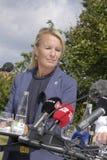 DENMARK_JOINT PRESS CONFERENCE. NYBORG/DENMARK- Soren Pape Poulsen (c) chairman of conservative political party  Ms.Lene Espersen former minister for foreign Stock Images