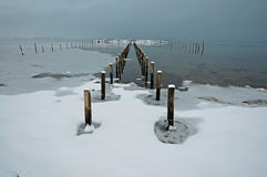 denmark Kolding krajobrazowa pobliski sjoelund zima Obraz Stock