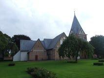 2008 denmark Løjt Kirkeby houses gammalt Arkivbild