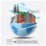 Denmark Landmark Global Travel And Journey Infographic Stock Image