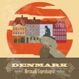 Denmark landmarks. Retro styled image Stock Images