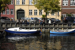 DENMARK_LIFE AT CHRISTIANHAVN CANAL Stock Photo