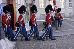 DENMARK_LIFE ROYAL GUARDS Royalty Free Stock Photos