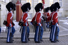 DENMARK_LIFE ROYAL GUARDS Stock Photos