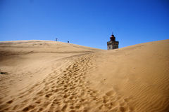 Denmark - Lighthouse. Lighthouse in the sand dunes of Rubjerg Knude in Denmark Royalty Free Stock Photography