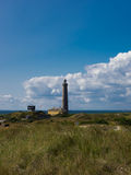 Lighthouse with sky and grass. A picture from a lighthouse in denmark. This picture was taken in skagen Stock Image