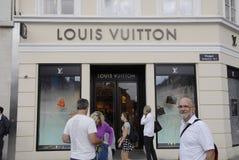 DENMARK_LOUIS VUITTON商店 免版税库存图片