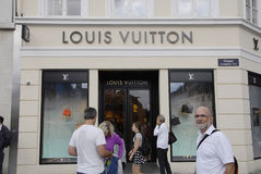 DENMARK_LOUIS VUITTON sklep Obrazy Royalty Free