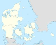 Denmark map Royalty Free Stock Photography