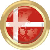 Denmark map and flag Royalty Free Stock Photography