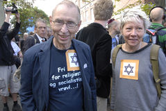 DENMARK_MARCH FOR DANISH JEWS Stock Photos