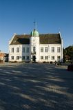 Denmark Maribo Town Hall and major Square. Denmark Maribo Town Hall and principal square at sundown Royalty Free Stock Photography