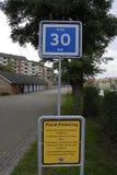 DENMARK_MAX MAXIMUMSNELHEID 39 KM Royalty-vrije Stock Afbeelding