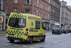 DENMARK_MEDICAL AMBULANCE Stock Photo