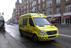 DENMARK_MEDICAL AMBULANCE Royalty Free Stock Photos