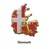 Denmark metal pin badge Royalty Free Stock Photography