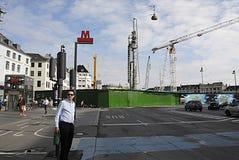 DENMARK_metro staci budowy Obraz Royalty Free