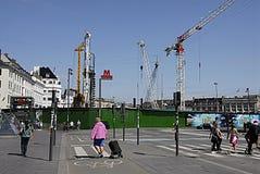 DENMARK_metro staci budowy Fotografia Royalty Free