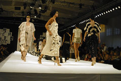 DENMARK_MODELS CAT WALK -MALENE BIGER SHOW Stock Images
