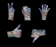 Denmark money gloves Royalty Free Stock Photography
