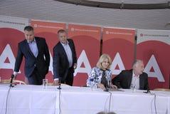 DENMARK_Ms Helle Thorning-Шмидт и министры Стоковое фото RF