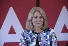 DENMARK_Ms Helle Thorning-Schmidt e ministros Imagens de Stock