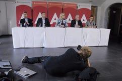 DENMARK_Ms Helle Thorning-Schmidt e ministros Foto de Stock