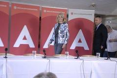 DENMARK_Ms Helle Thorning-Schmidt e ministros Fotos de Stock