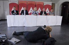 DENMARK_Ms.Helle Thorning-Schmidt and Ministers Stock Photo