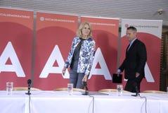 DENMARK_Ms Helle Thorning-Schmidt och ministrar Royaltyfria Foton