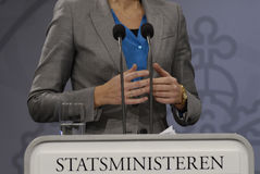 Ms.Helle Thorning-Scmidt danish prime minister Royalty Free Stock Photos