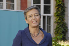 DENMARK_Ms MARGRETHE VESTAGER _NEW UE COMMISSIONER Obraz Stock