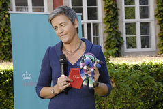 DENMARK_Ms MARGRETHE VESTAGER _NEW UE COMMISSIONER Obrazy Stock
