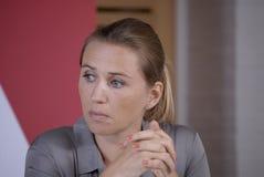 DENMARK_Ms Mette Frederiksen_Minister για την εργασία Στοκ Εικόνα