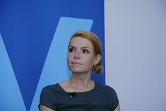 DENMARK_Ms SPEICHEN-FRAU INGER STOJBERG _PARTY Lizenzfreies Stockfoto