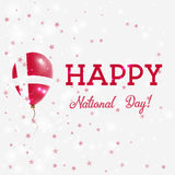 Denmark National Day patriotic poster. Royalty Free Stock Photos