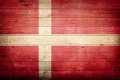 Denmark national flag. Wood background royalty free stock photography