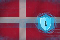 Denmark network security. Network protection concept. stock illustration