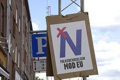 DENMARK_no a la unión europea Fotos de archivo