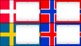 Denmark, Norway, Sweden, Iceland. Royalty Free Stock Photo