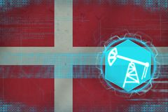 Denmark oil industry. Oil well concept. Royalty Free Stock Images