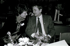 DENMARK OLOF PALME AND GRO HARLEM BRUNTLUND Stock Photo