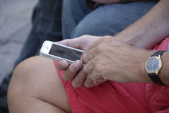 DENMARK_PHOTO FEATURES_LIFE CON GLI SMARTPHONES Immagine Stock Libera da Diritti