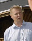 DENMARK_PLE JACOBSEN. HUNDIGE /DENMARK-  Ole Jacobsen zealand chairman for DBU danish ball union at event get2sport         06  Auguest  2014  (Photo by Francis Royalty Free Stock Photos