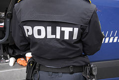 DENMARK_police bij hof royalty-vrije stock foto's