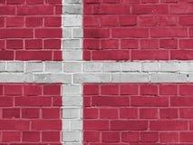 Denmark Politics Concept: Danish Flag Wall. Background Texture royalty free stock photo