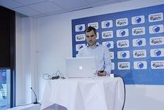 DENMARK_press-Konferenz Stockfotos