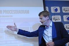DENMARK_press-Konferenz Stockbilder